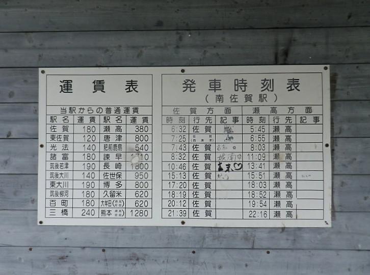 駅 時刻 表 佐賀